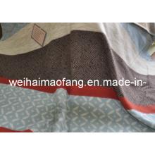 100% pura lana manta de viaje para regalo de la promoción con diseño del telar jacquar