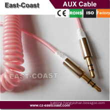 colorful 3.5 mm digital Coiled Stereo Audio Cable