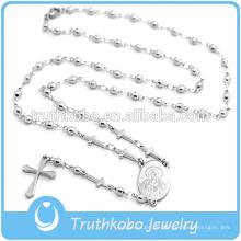 2016 neueste Shiny Style Rosenkranz Halskette mit Kreuz zum Verkauf