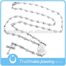 2016 Latest Shiny Style Rosary Beads Necklace with Cross for Sale