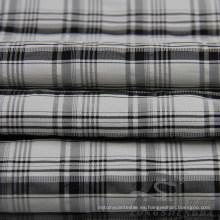 Water & Wind-Resistant Down Jacket Tejido Dobby Plaid Jacquard 63% Poliéster 37% Nylon Blend-Tejido Intertexture Tejido (H023)