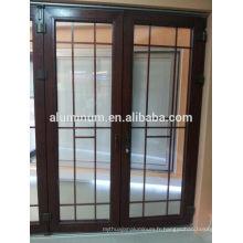 Porte latérale en aluminium en bois