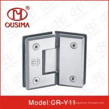 Charnière de douche de verre à verre de 135 degrés en acier inoxydable (CR-Y11)