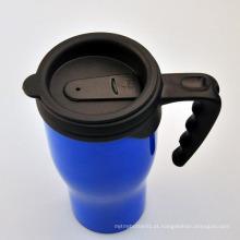 Venda por atacado 450ml caneca de café de plástico, caneca de café de plástico com tampa, xícara de café