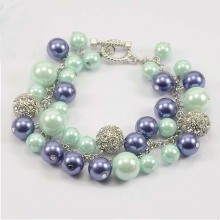 Manufacturer for Link Charm Bracelets Vintage Plastic Pearl Beads Bracelet 2017 export to Japan Factory