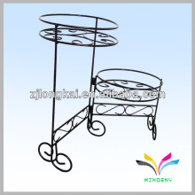 Fashion design metal black bicycle flower stand for flower