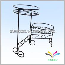 Design de moda metal preto carrinho de flor de bicicleta para flor