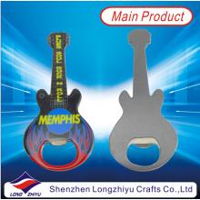 Rock Guitar Custom forma de metal Bottle Cap abridor