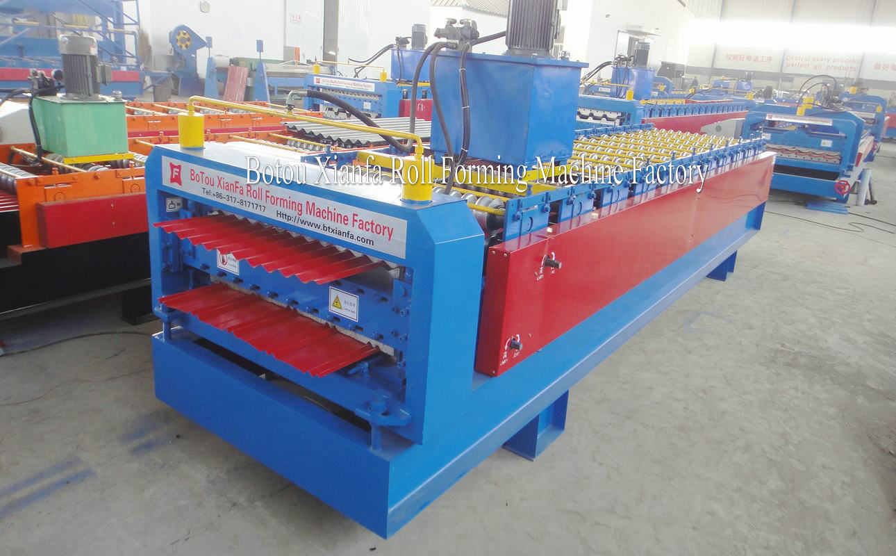 metal ibr and corrugated panel roll forming machine