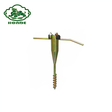 Groud Spike Metal Screw Base para sombrilla