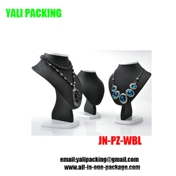 Exquisite Black PU Jewelry Necklace Display Wholesale (JN-PZ-WBL)