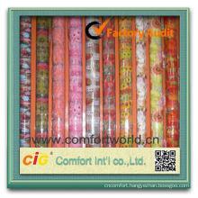 Fashion New Design Pretty Transparent Printing Pvc Coloured Film