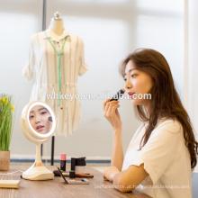 2017 hot new design decorativo ampliação bluetooth speaker espelho de maquiagem