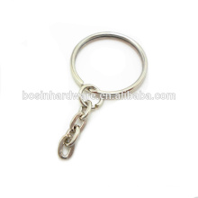 Fashion High Quality Metal Split Ring With Flat Chain