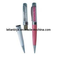 Utilitário de cristal caneta com USB Flash Disk (LT-Y027)