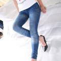 Женские спандексы высокого качества из тонких джинсов со сгибом (SR8210)