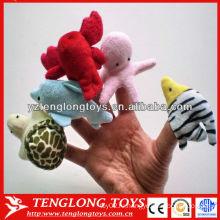 IQ игрушка плюшевых морских животных палец куклы