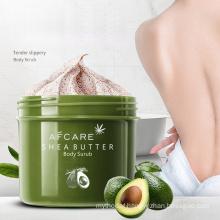 OEM Private Label Natural Sherbet Bodyscrub Skin Care Exfoliating Whitening Organic Peach Fruit Salt Shea Sugar Body Scrub Body Scrub for The Skin