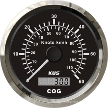 Best Price! ! ! 85mm GPS Speedometer 60L with Backlight Black Faceplate