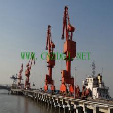 Grue à portique à flèche simple pour port