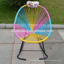 Hot sale cheap rocking egg chair peacock rattan chair outdoor wicker chair for adult