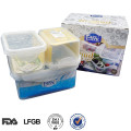 L Easy lock small plastic storage box with lid
