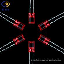 Nuevo diodo LED cóncavo y columnar rojo de 5 mm con precio bajo
