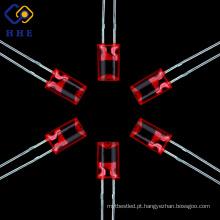 Diodo conduzido colunar e côncavo vermelho brandnew de 5mm com baixo preço