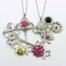 Fabricant Fashion Key Button Jewelry Necklace