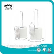 Soporte de papel higiénico de hierro Soporte de papel de acero inoxidable Soporte de papel higiénico