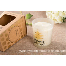 Lavender & Eucalyptus Scented Glass Gift Candle