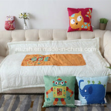 Children′s Cartoon Printing Super Comfortable Suede Pillow Quilt Dual Use