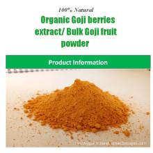 Chine fournisseur naturel 100% poudre de baies de goji certifié organique extrait de baies de goji