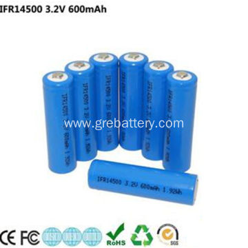 3.2V 600mAh AA Size Lithium Rechargeable Batteries