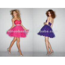 NY-2368 Silky satin and tulle quinceanera dress