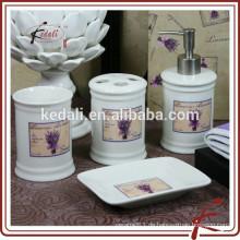 Heißes verkaufendes Steinzeug-Porzellan-Badezimmer-Zusätze mit Abziehbild