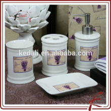 Hot Selling Stoneware Porcelain Bathroom Accessories With Decal