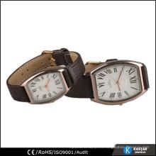 Reloj de cuarzo de cuero genuino para el amante