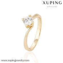 13995 anillos de bodas ajustables de Xuping para las mujeres, anillos de las mujeres apilables chapados en oro