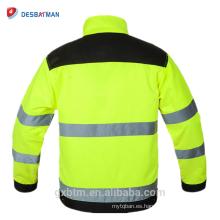 Chaquetas de seguridad reflexivas fluorescentes de alta visibilidad del invierno de la tela cruzada de la tela cruzada de la tela cruzada con el bolsillo de la herramienta