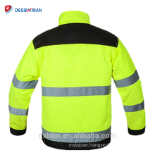 Top Sell Twill Polycotton Fabric Winter High Visibility Fluorescent Reflective Safety Jackets With Tool Pocket