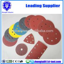 discos de papel de lija abrasivos de la máquina de pulir neumáticos