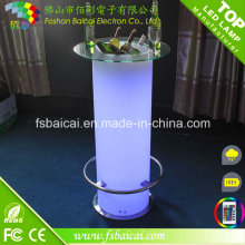 Nightclub LED Cocktail Table, LED Light up Bar Table, LED Bar Table