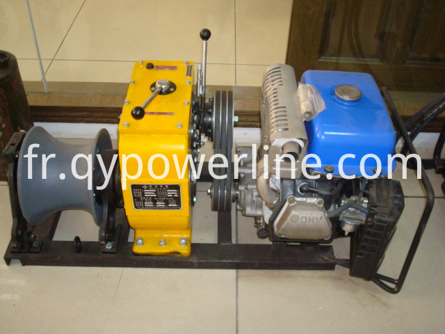 New type Gasoline power Cable Capstan Winches pulling winch