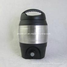 Barril de cerveza de plástico de 3.6 litros con vertedor