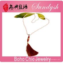 Boho Style Schmuck Nantural Achat Anhänger Quaste Halskette Boho Chic Schmuck