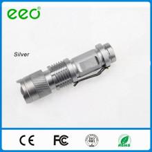 Светодиодный фонарик регулируемый фокус, супер яркий, мини факел, батареи не включены