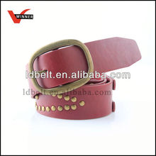 Fashion eco-friendly fashion harness leather belt