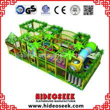 Campo de jogos plástico galvanizado do tema da selva do PVC do aço interno para a venda