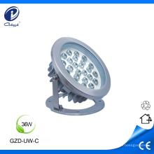 Lámpara subacuática led de 36W RGB led de acero inoxidable.